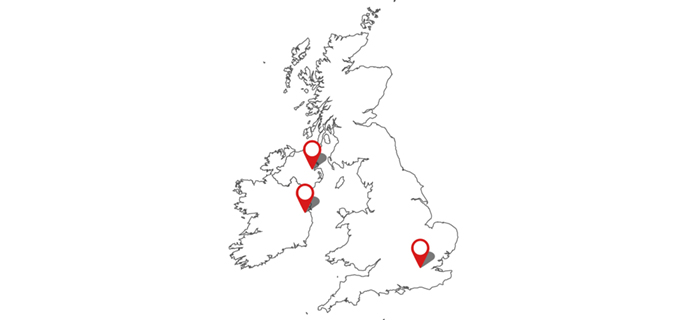 Our centralised UK location