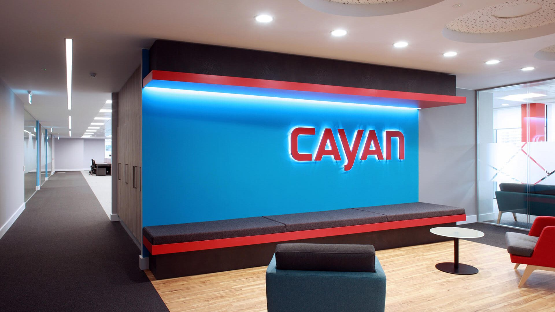 Cayan reception area in Belfast
