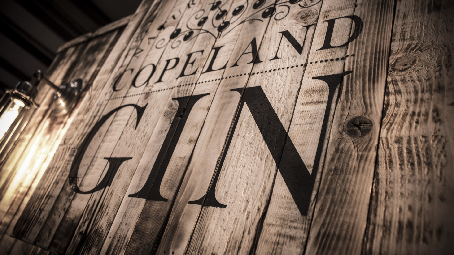Copeland Gin custom built retail wall