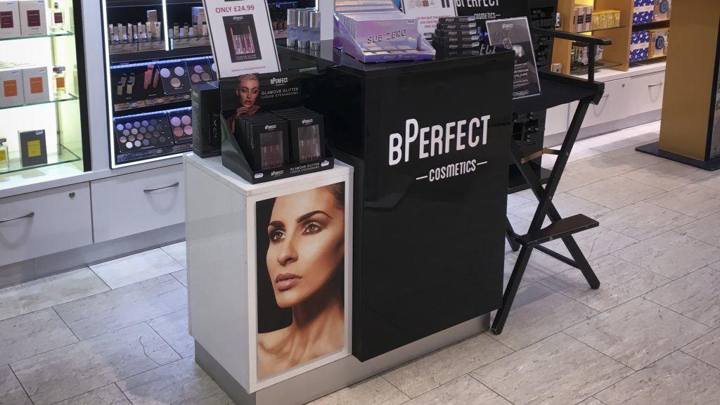 BPerfect makeup display POS Unit