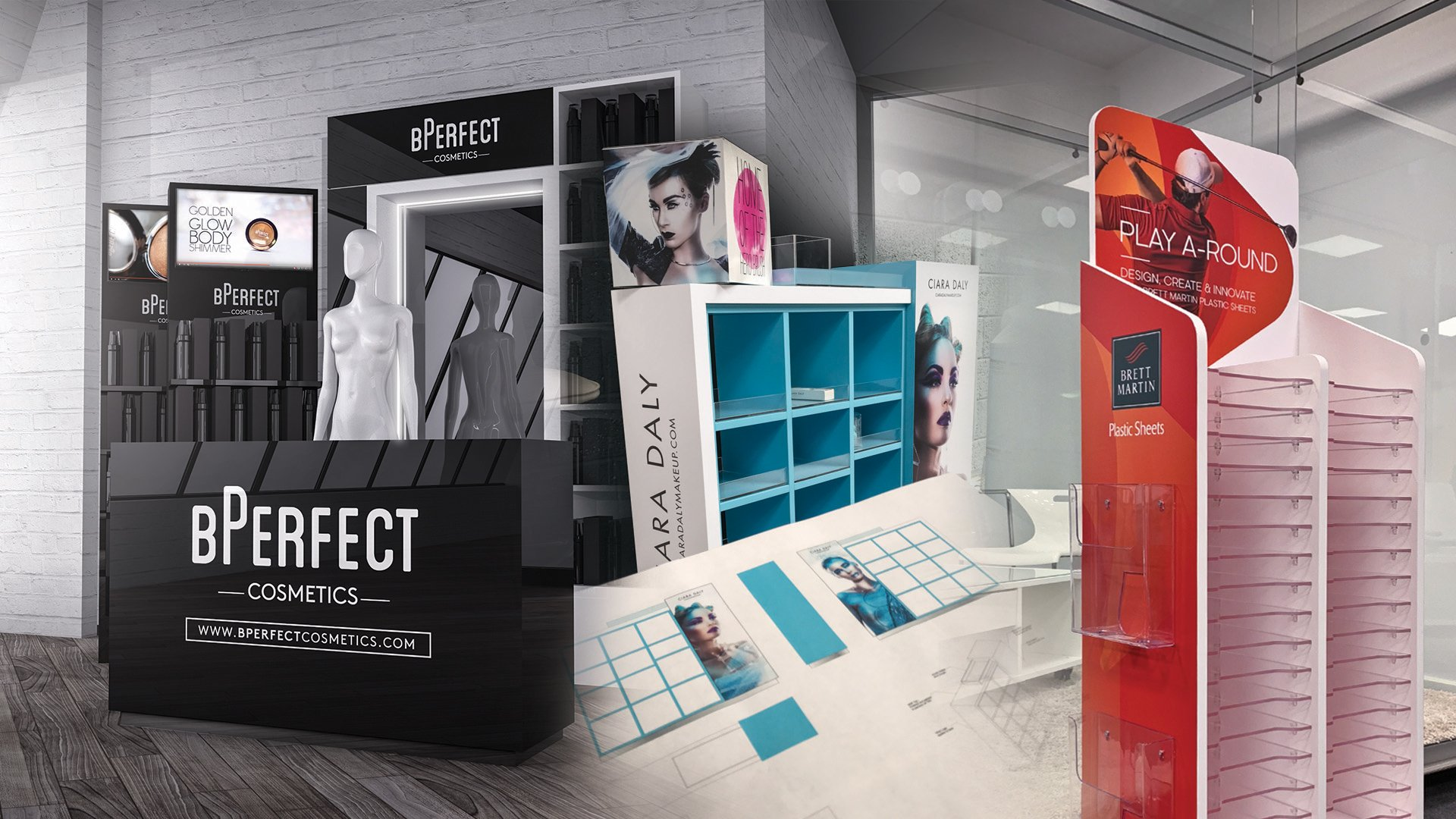 Point of Sale display units for Ciara Daly and Perfect in Belfast
