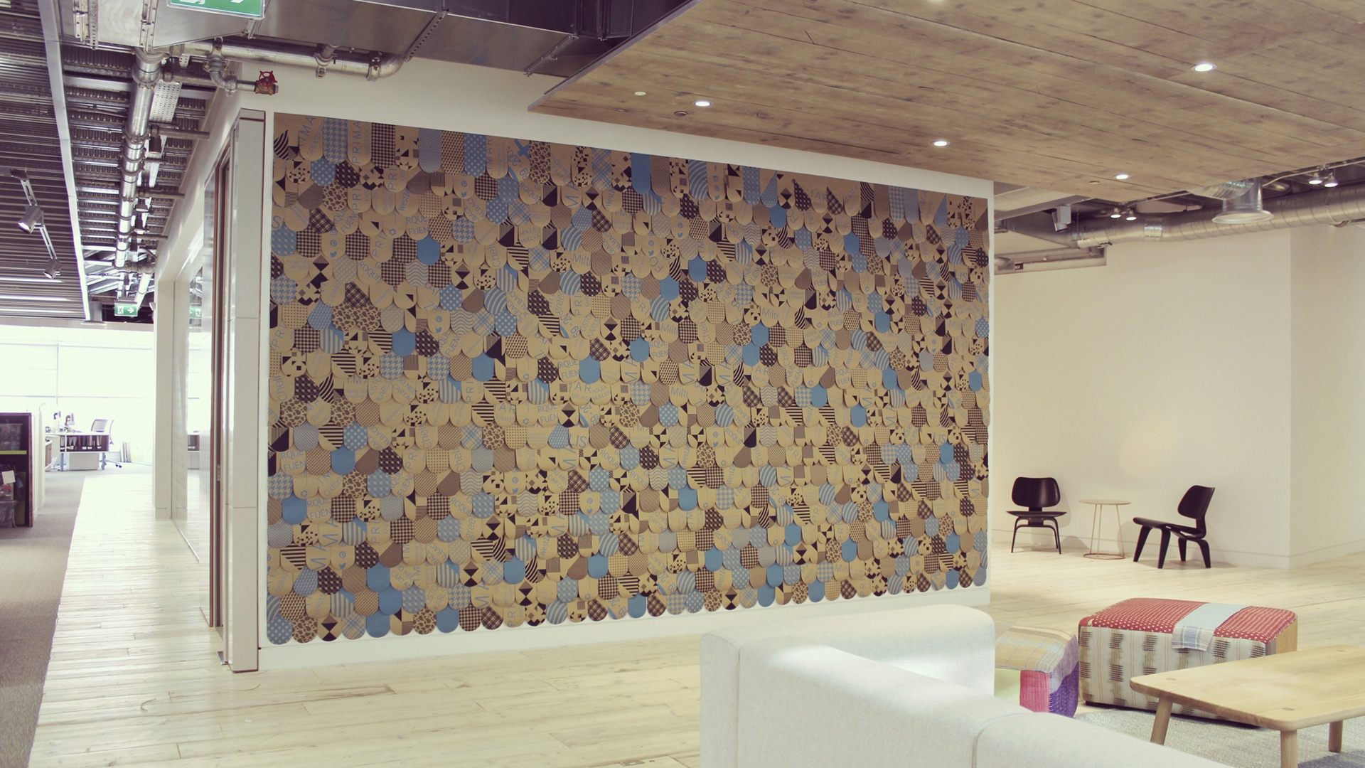 Wall art as a beautiful addition to Primark HQ Dublin