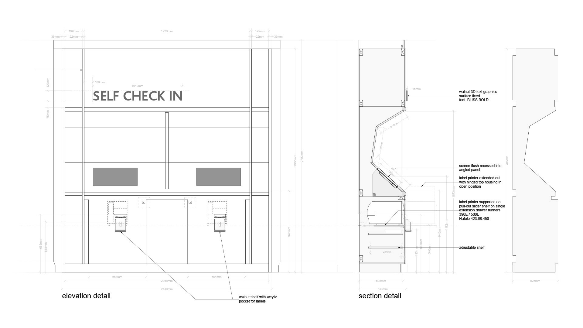 technial drawings for Ulster Clinic Belfast