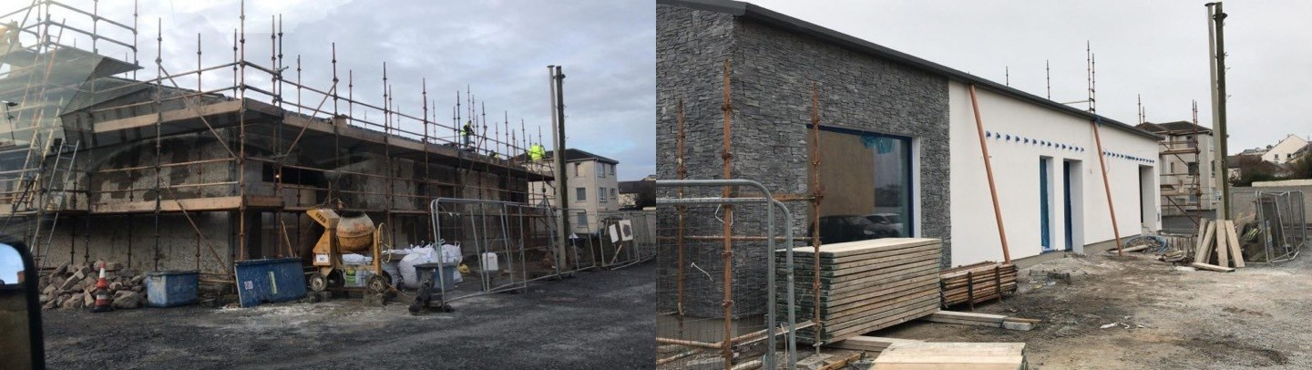 Copeland Distillery, before and after construction of new facility