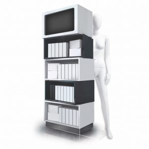 The Tupelo - a modular, box on box POS display unit